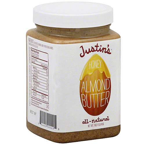 Justin's All-Natural Honey Almond Butter, 16 oz (Pack of 6)