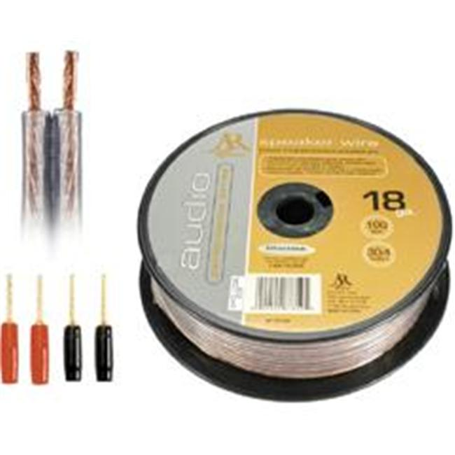 Acoustic Research Performance Series 18-Gauge Oxygen-Free Speaker Wire Clear AP-18100 by Accoustic Research inc