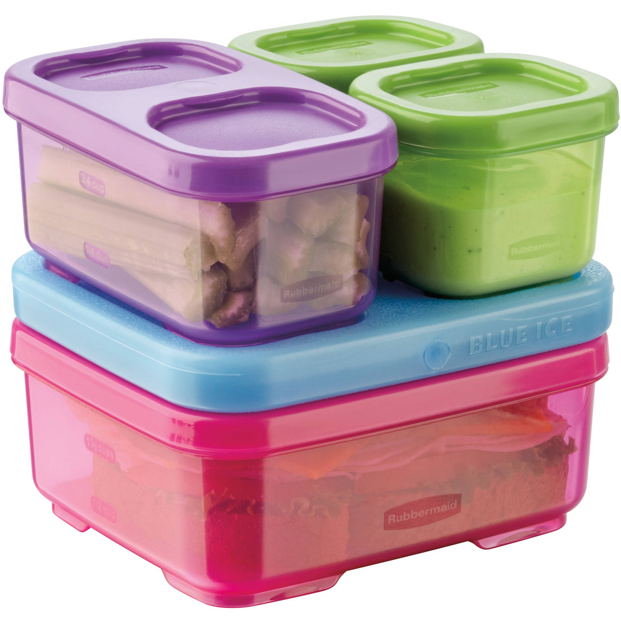 bb37bf456fbb Rubbermaid LunchBlox Kids Multi Color Lunch Kit with ice pack, 1 kit