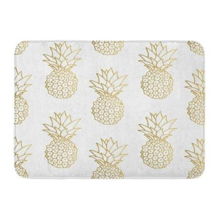 KDAGR Green Pattern Gold Pineapple Yellow Tropical Golden Fruit White Day Doormat Floor Rug Bath Mat 23.6x15.7 inch](Gold Door)