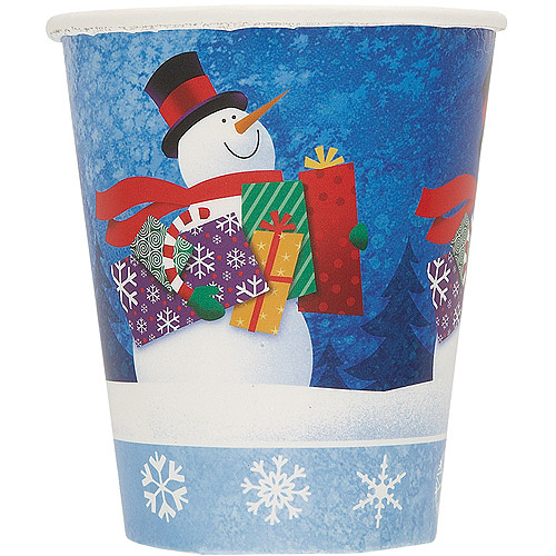 9 oz Snowman Gifts Holiday Cups, 8-Count