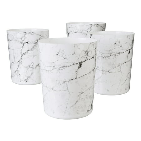 Mainstays Marble Waste Trash Can, 5 Gallon, 4 pack
