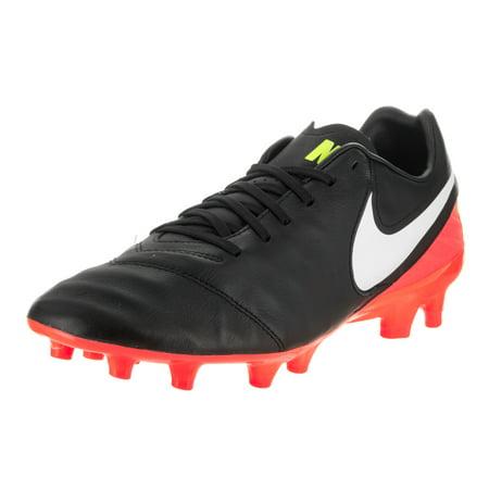 nike men's tiempo mystic v fg black/white hyper orange volt soccer cleat 11 men (Nike Mens Tiempo Ligera Iv Fg Soccer Cleats)