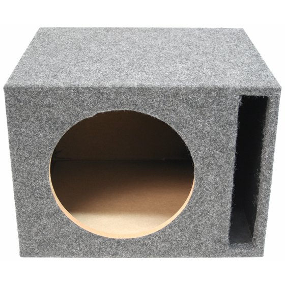 Single 12-Inch Ported Subwoofer Box Car Audio Stereo Bass Speaker Sub  Enclosure