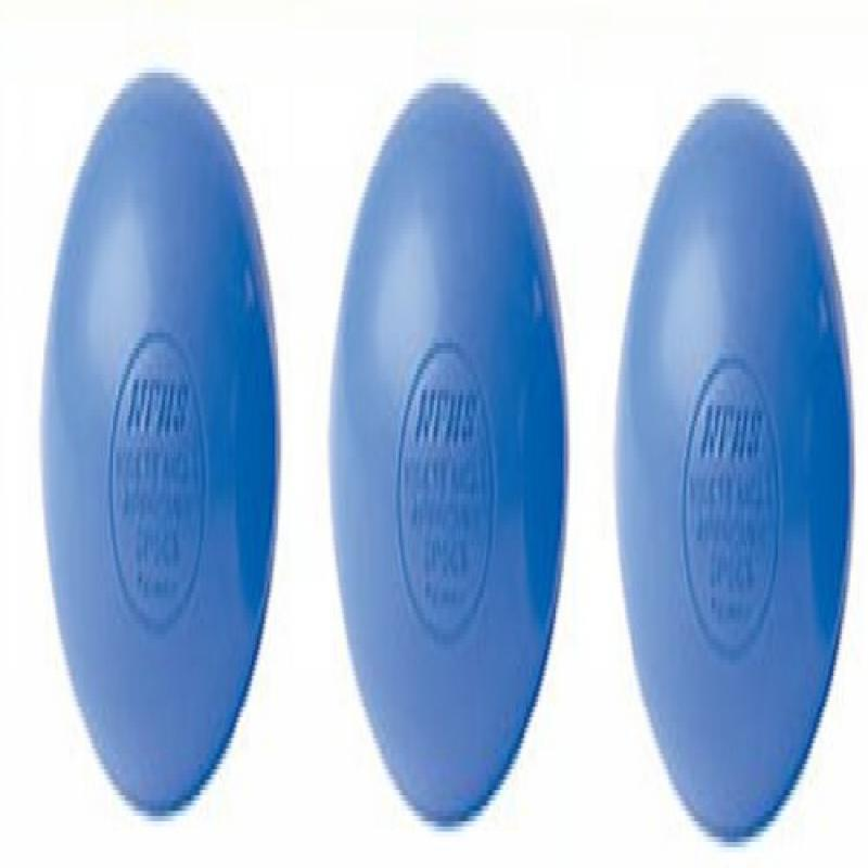 Three Blue Lacrosse Balls - NCAA NFHS Certified