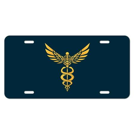 Caduceus Medical Symbol Doctor Nurse Emt Novelty Metal Vanity Tag