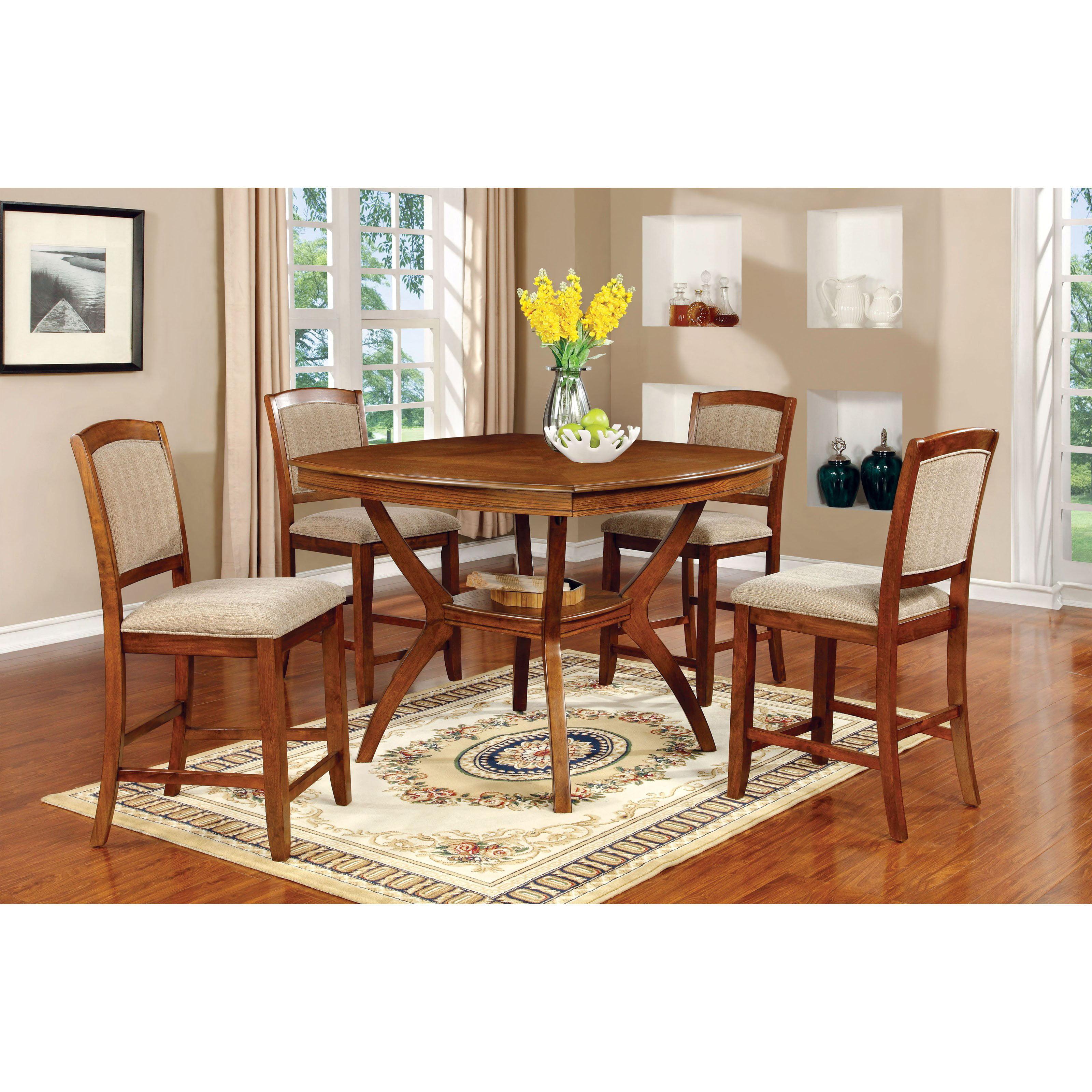 furniture of america halloran 5 piece counter height