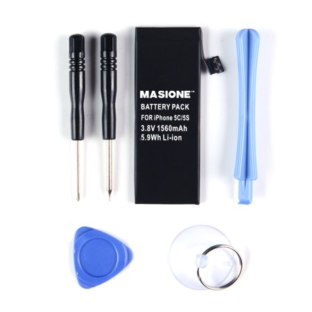 Masione 3 8V 1560Mah Li Ion Internal Replacement Battery Kit For Iphone 5S 5C With Tools Included