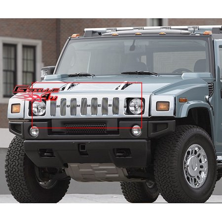 Compatible with 2003-2007 Hummer H2 Main Upper Billet Grille Insert