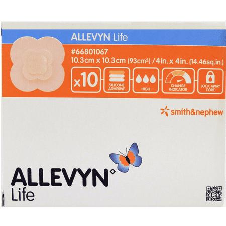 """Allevyn Life Foam Dressing 4"""" x 4"""" - Box of 10"""