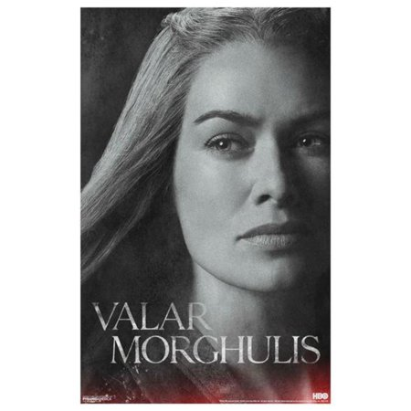 Game Of Thrones Got Cersei Lannister Valar Morghulis Hbo Tv Show Poster 11X17 Inch