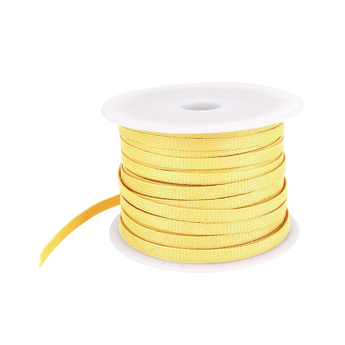 Unique Bargains Car Audio Braided Cable Wire Sheathing Sleeve Harness Orange 100m X 10mm