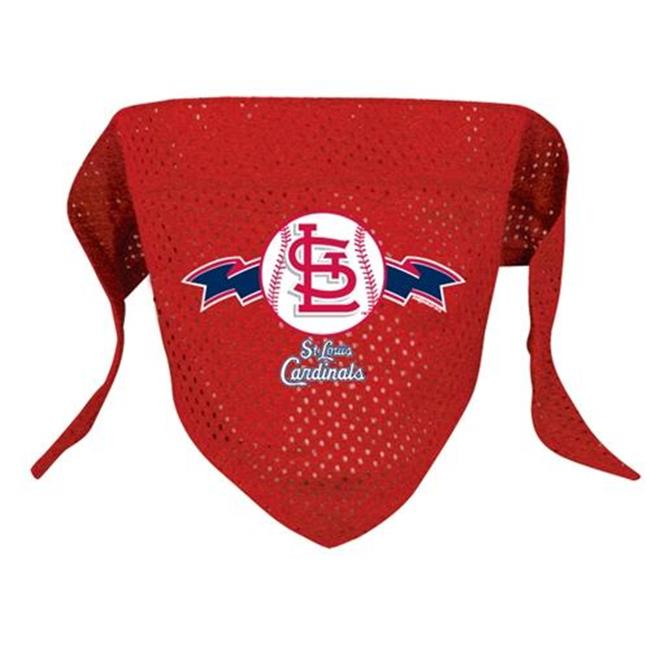 DoggieNation 716298009273 Large St.  Louis Cardinals Mesh Dog Bandana