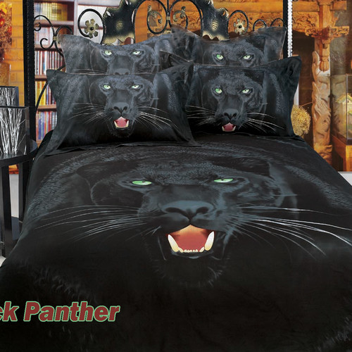 Dolce Mela Black Panther Cotton 6 Piece Duvet Cover Set