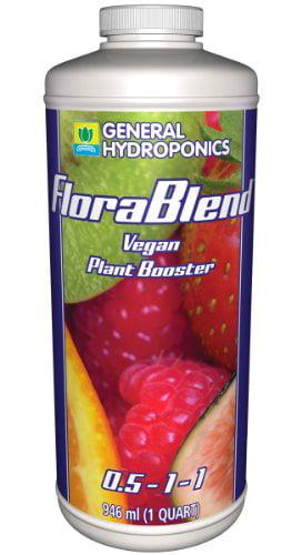 General Hydroponics Flora Blend-Vegan Compost Tea Fertilizer, 1 Qt. by