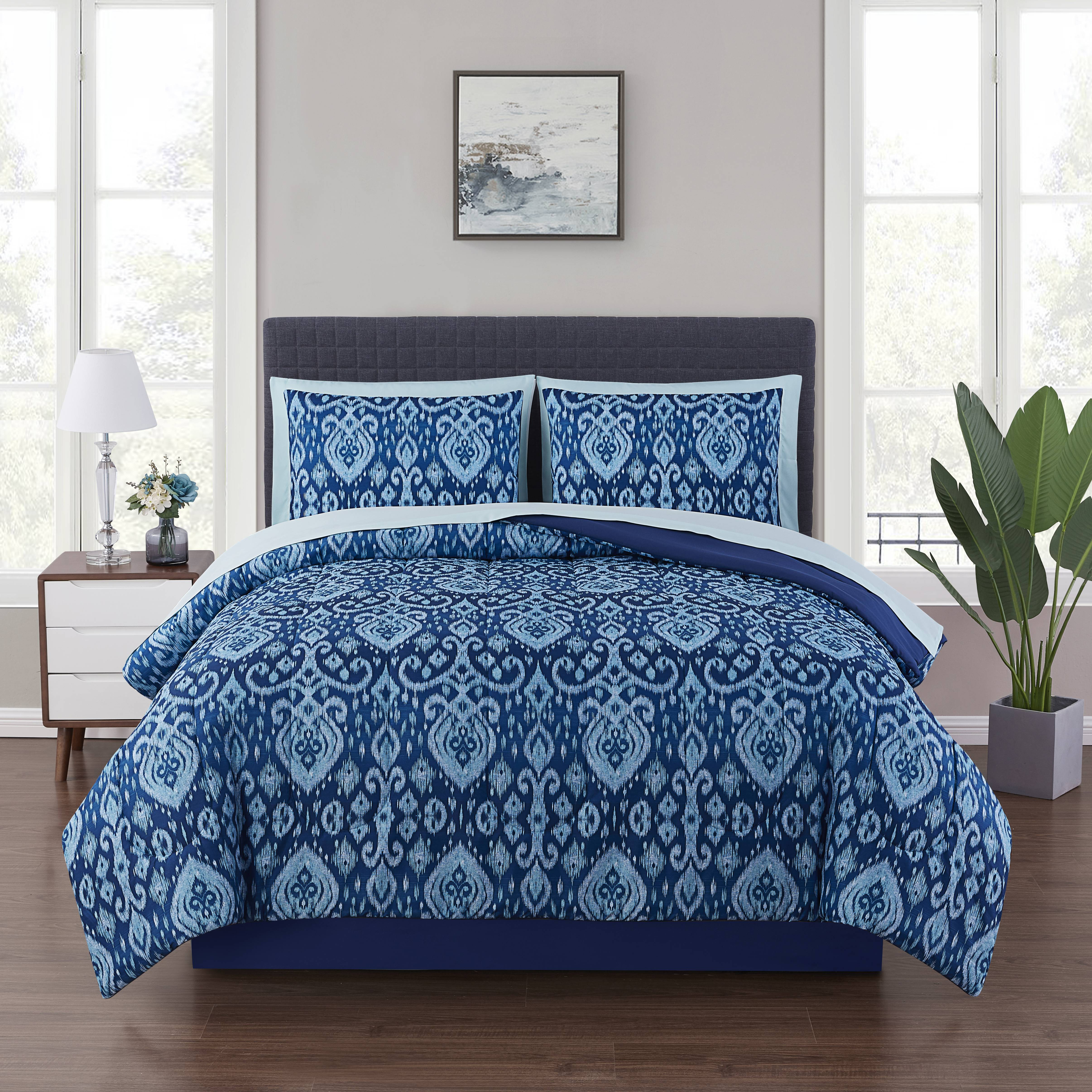 Picture of: Bettuberwurfe Tagesdecken Twin Queen King Bed Navy Blue White Solid Hotel 8 Pc Quilt Sheet Set Coverlet Mobel Wohnen A2privathospital Dk