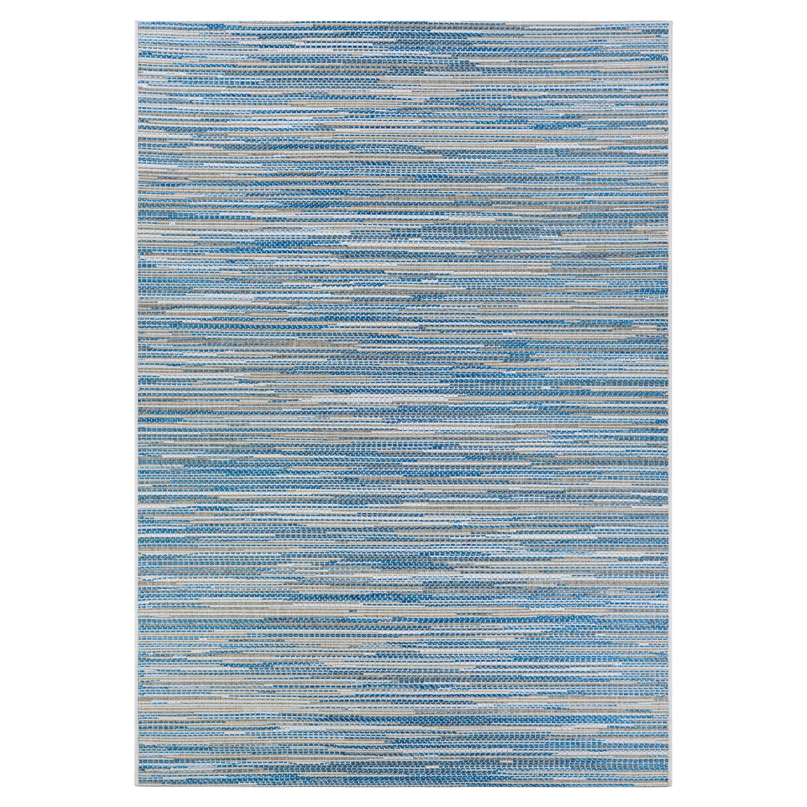 Couristan Monte Carlo Coastal Breeze Ocean-Champagne Indoor/Outdoor Area Rug