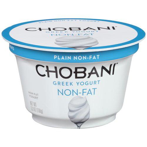 Chobani Greek Yogurt Plain Non-Fat Yogurt, 5.3 oz