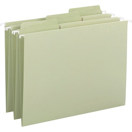 - Smead, SMD64032, FasTab Hanging Folder, 20 / Box, Moss