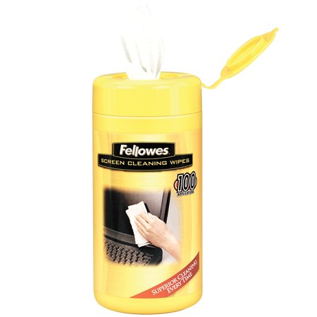 Fellowes 99703 100-Count Screen Cleaning Wipes