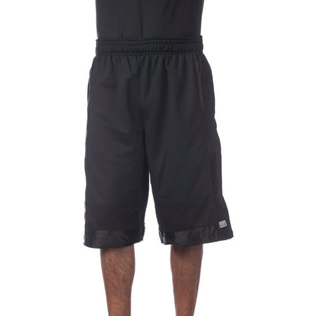 Pro Club Men's Heavyweight Mesh Basketball Shorts, Small, Black