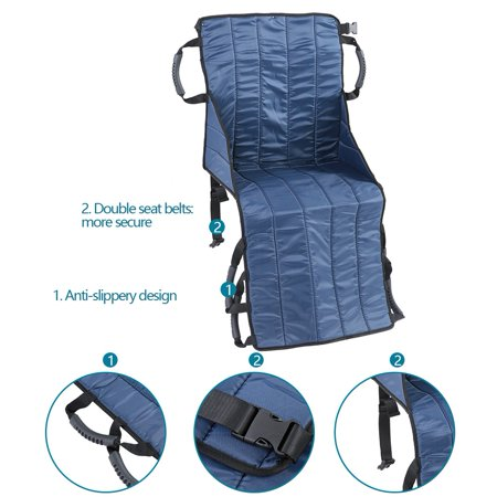 Ejoyous Patient Lift Sling Transfer Seat Pad Medical Mobility Emergency Wheelchair Transport Belt  , Medical Transfer Lift Sling,Patient Board Transfer - image 6 of 8