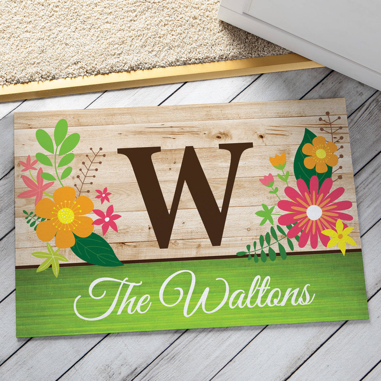 Personalized Spring Monogram Doormat