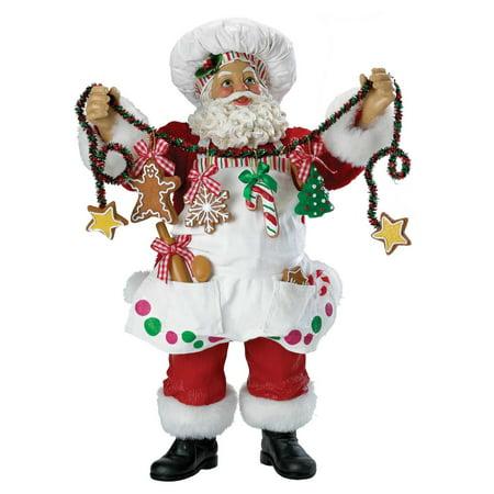 Kurt Adler 12 in. Fabriche Christmas Chef Santa