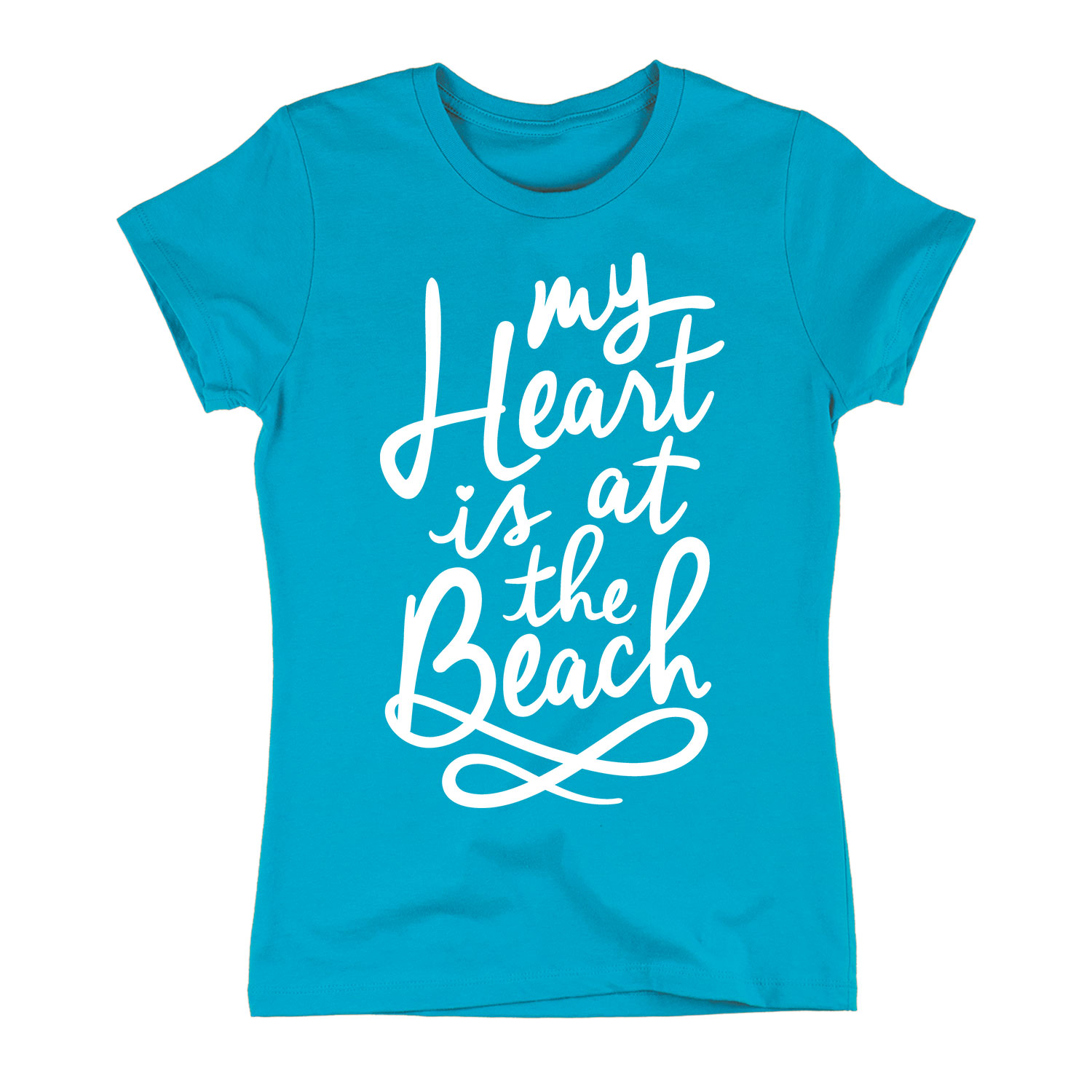 My Heart Is At The Beach - Womens LADIES SHORT SLEEVE TEE