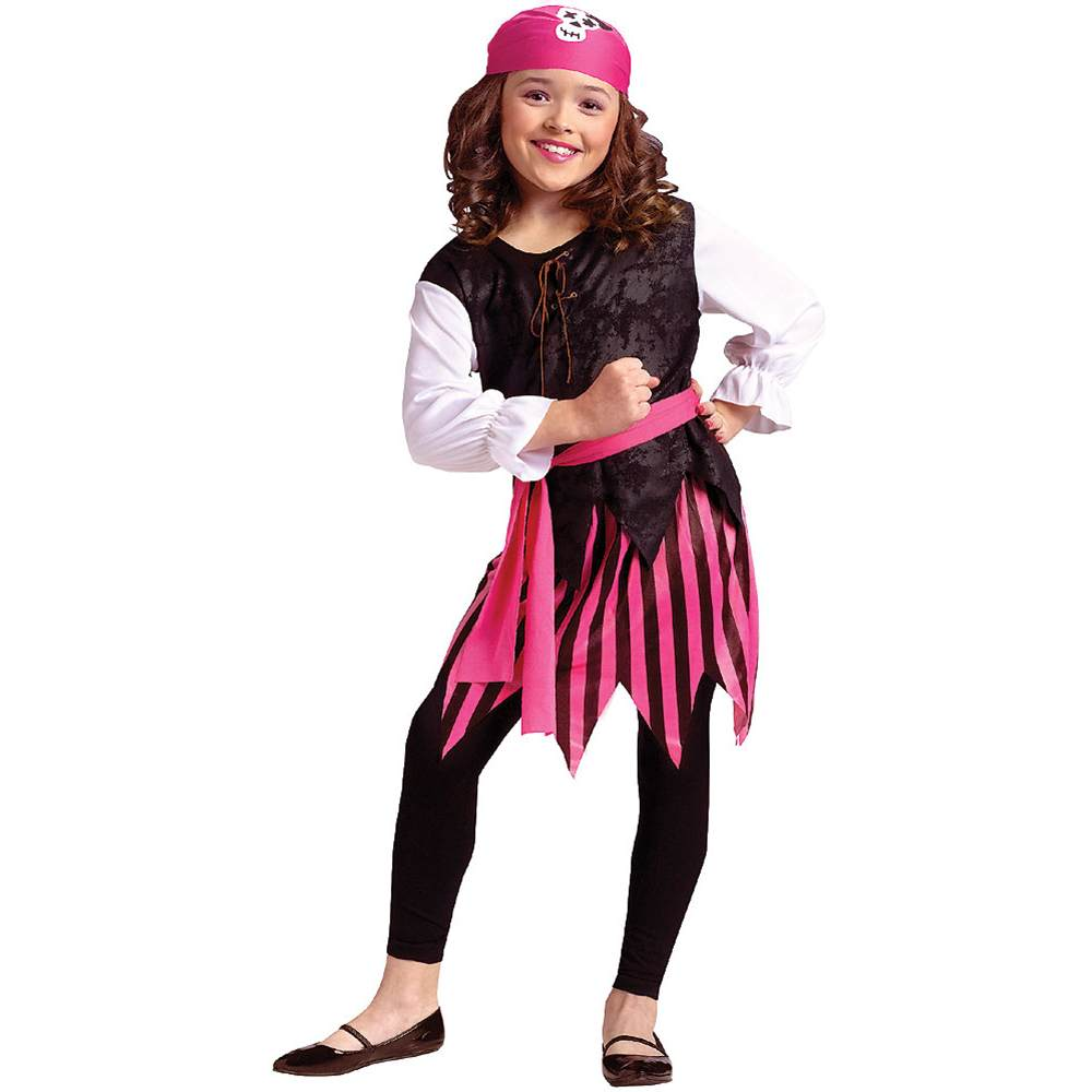 Caribbean Pirate Girl Kids Costume by