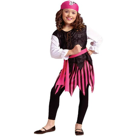 Caribbean Pirate Girl Kids Costume](Johnny Depp Pirates Of The Caribbean Costume)