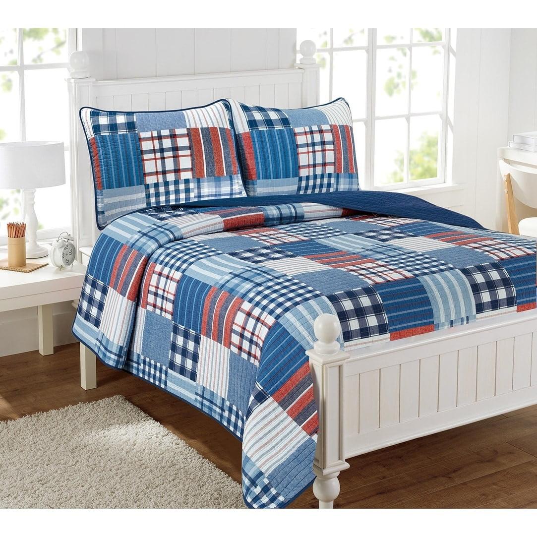Hudson Patchwork 3pc Quilt Set