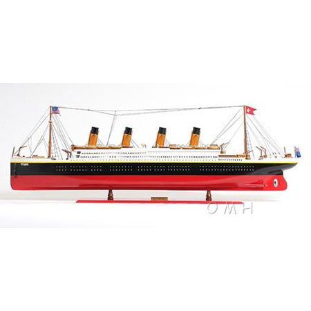 Model Ship Titanic Boats Sailing Xl Painted Wood Base Tacks New Om 66