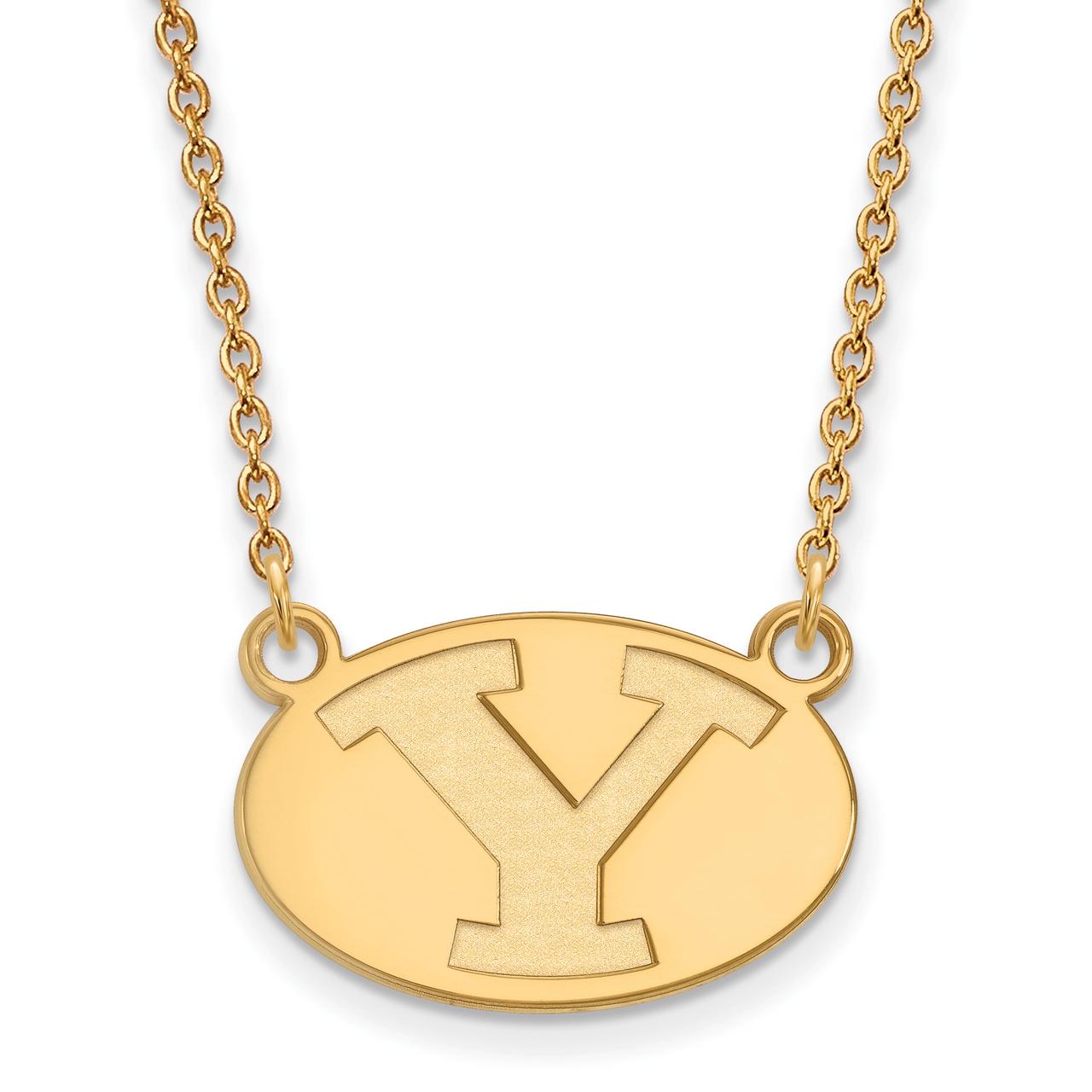 Lex /& Lu LogoArt 10k Yellow Gold University of Findlay Small Pendant