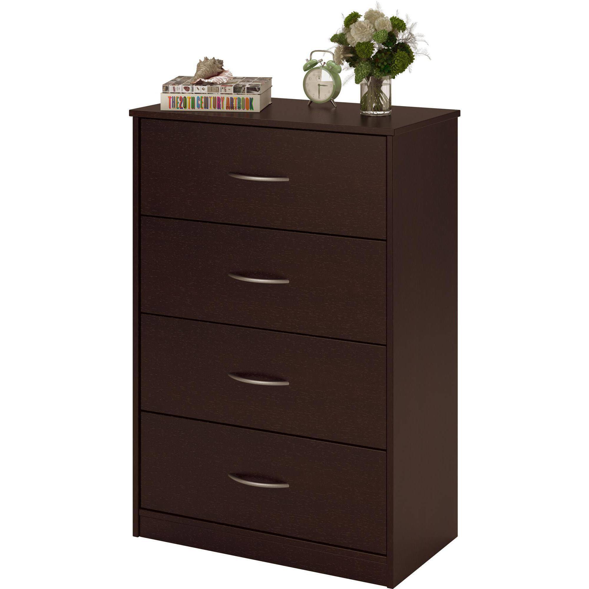 4 drawer dresser chest bedroom furniture black brown white