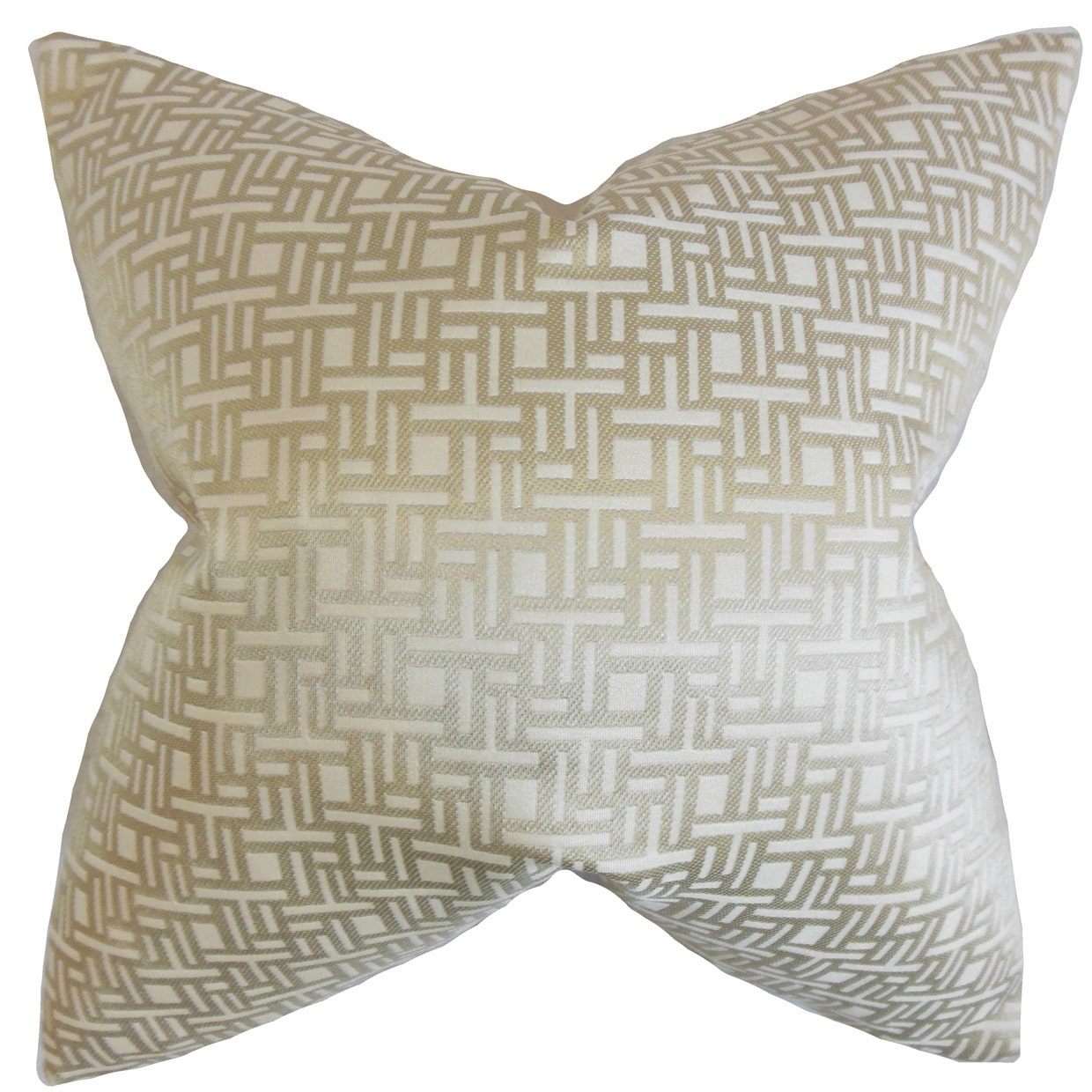 The Pillow Collection Daphnis Geometric Euro Sham Natural