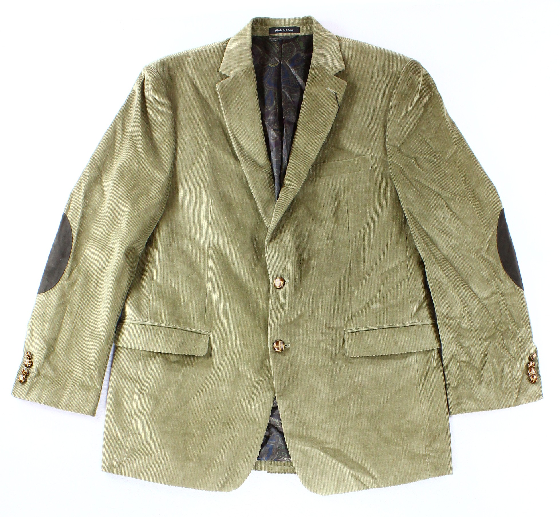 Lauren Ralph Lauren NEW Beige Mens Size 40L Corduroy Notched Jacket