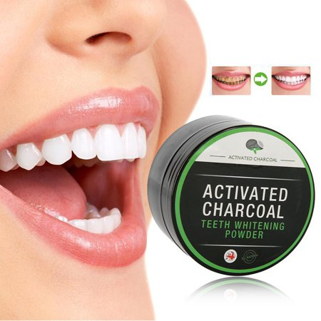 AngelCity 100% Natural Activated Organic Bamboo Charcoal Teeth Whitening Powder Oral Hygiene Cleaning Tooth Effective Stain Remover For Stain