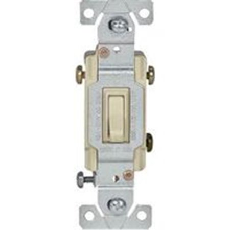 Eaton Wiring Devices C1301-7LTV Toggle Switch, 120 V, Wall Mounting, Polycarbonate, (3 Way Wall Switch Wiring)