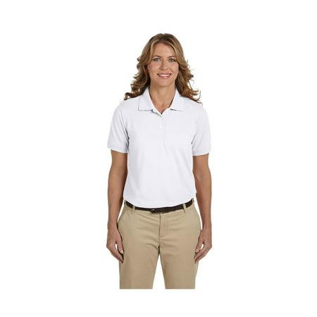 Harriton Ladies Easy Blend Cotton Pique Polo Shirts, Style M265W Harriton 100% Pique