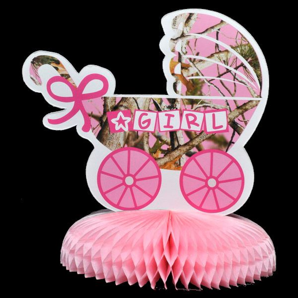 "Pink Camo ""It's a Girl"" Centerpiece (Each) - Party Supplies"