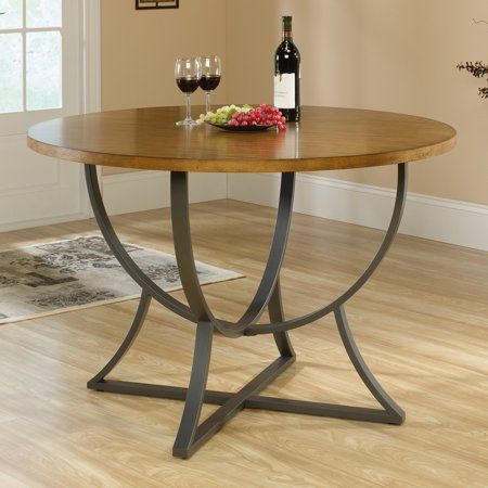 (Sauder Cannery Bridge Round Dinette Table, Pecan Finish)
