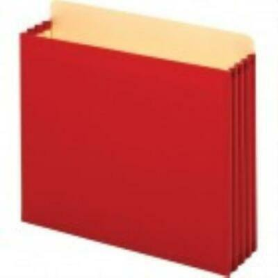 Globe Weis Legal File Cabinet - Globe-Weis File Cabinet Pocket - Tyvek - Red - Recycled - 1/Box