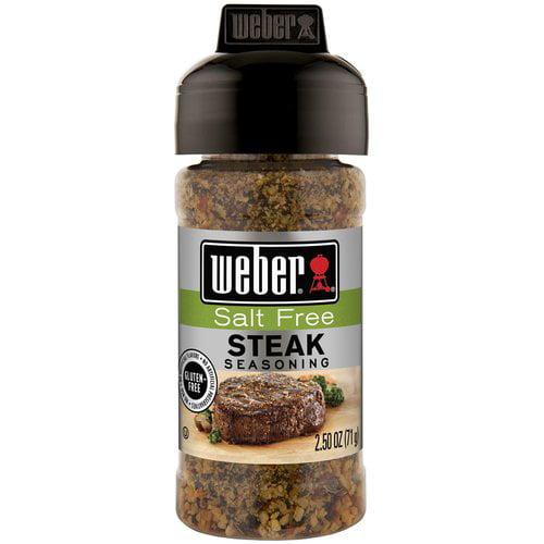 Weber Salt Free Steak Seasoning, 2.5 oz