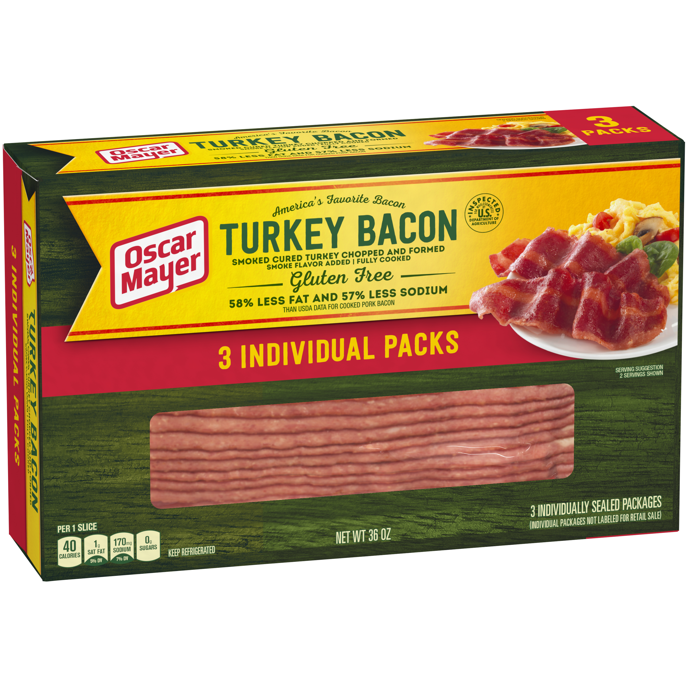Oscar Mayer Turkey Bacon, 36 Oz.