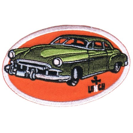 Artist Lunch Hot Rod Car Patch Green Classic Cruise Embroidered Iron On