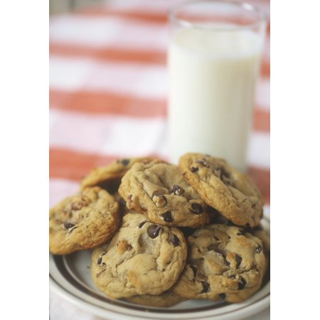 Fv3559 Natural Moments Photography Cookies And Glass Of Milk PosterPrint (Cookie And Glass Of Milk Halloween Costume)