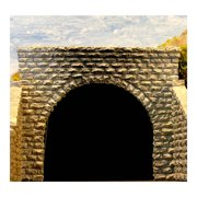 N Double Cut Stone Tunnel Port Multi-Colored