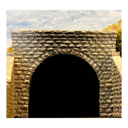 N Double Cut Stone Tunnel Port Multi-Colored (Double Cut Stone Tunnel)