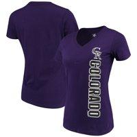Colorado Rockies G-III 4Her by Carl Banks Women's Asterisk V-Neck T-Shirt - Purple